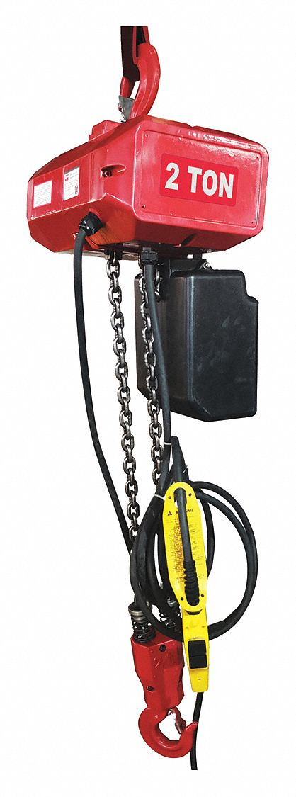 H4 Electric Chain Hoist, 4,000 lb Load Capacity, 115/230V, 10 ft Hoist Lift, 10 fpm