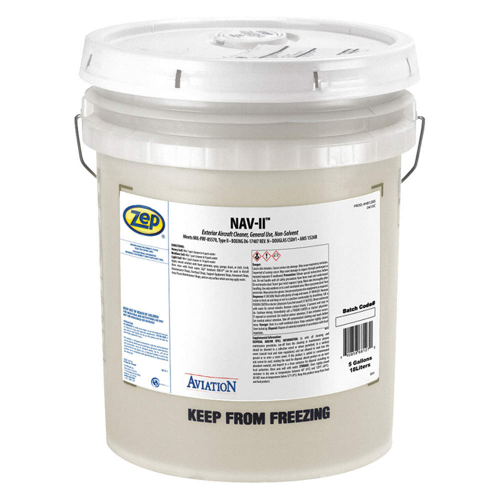 Cleaner/Degreaser, 5 gal  Pail, Detergent Liquid, Concentrated, 1 EA