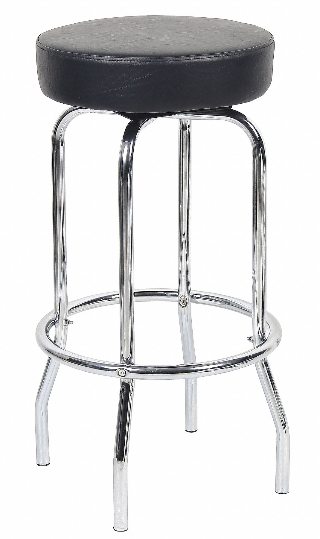 Fantastic Work Bench Stool With 29 Seat Height Range And 275 Lb Weight Capacity Chrome Base Black Seat Evergreenethics Interior Chair Design Evergreenethicsorg
