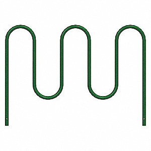 "Bike Rack,Green,36"" H,64"" L,Steel"