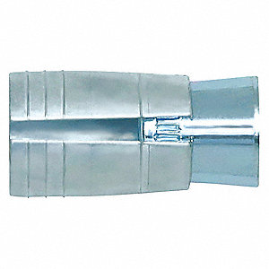 "3/8""-16 Flange Drop-In Anchor, 1-5/16""L x 3/8"" Dia., 100 PK"