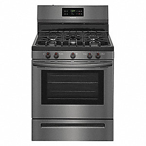 FRIGIDAIRE Natural Gas Oven Range, Black Stainless Steel, 50-3/64\