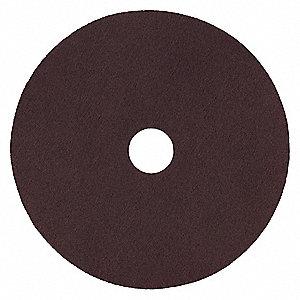 "14"" Non-Woven Nylon Fiber Round Stripping Pad, 175 to 600 rpm, Maroon, 10 PK"
