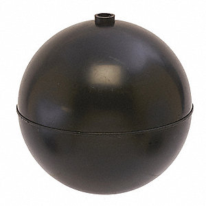 "Float Ball, 15.84 oz., 8"" dia., Plastic"