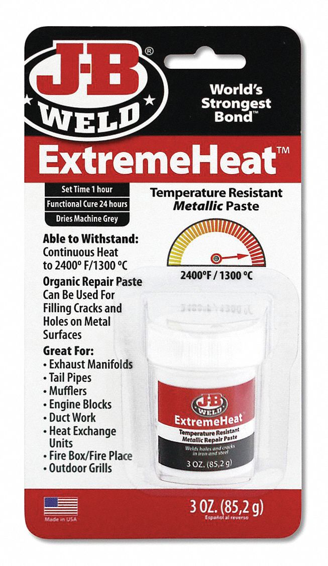 Series ExtremeHeat,  Epoxy Adhesive,  Jar,  3.0 oz,  Gray,  1 hr Work Life