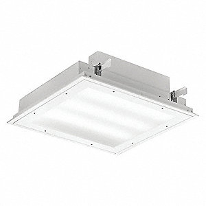 Recessed Troffer, LED Replacement For 2 Lamp LFL, 3000K, Lumens 10,022, Fixture Rated Life 100,000 h