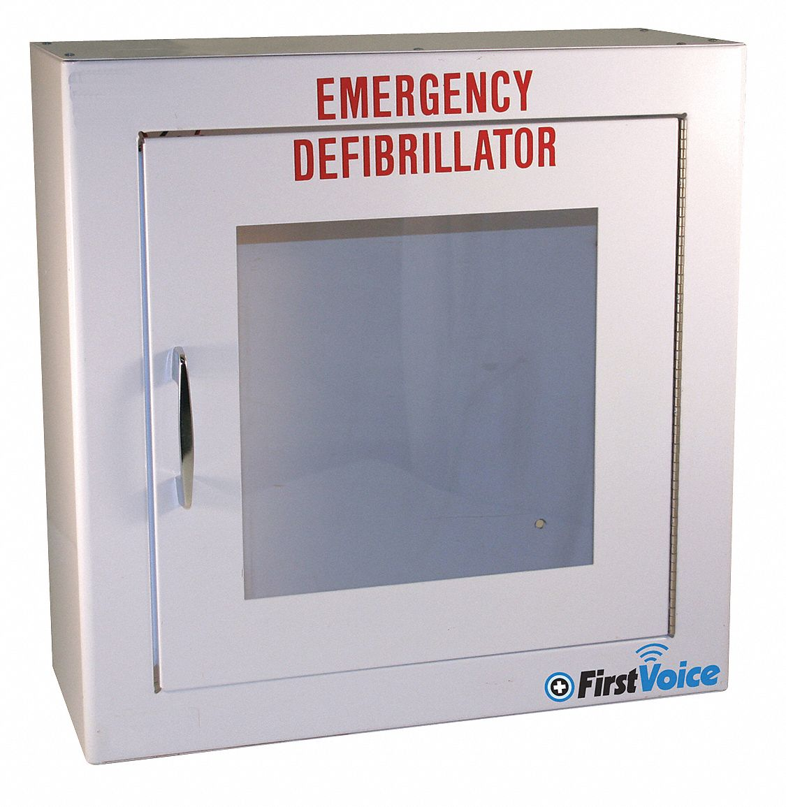 Defibrillator Storage Cabinet,  White,  Steel,  For Use With Physio Control CR Plus, Express AED
