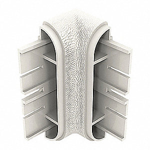 "Wall Protection Guard, Feather, Plastic, 1-3/4"" Length, 4"" Height, 1-5/8"" Thickness"