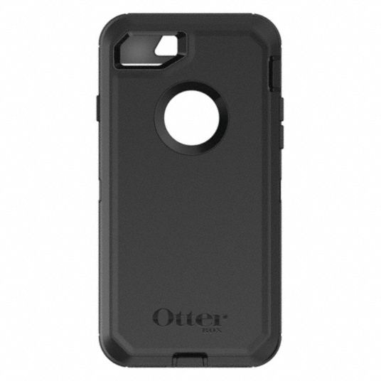 Cell Phone Case,  Fits Brand Apple,  Black,  Polycarbonate, Rubber