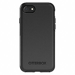 best service eebc8 90a7a Cell Phone Case, Fits Brand Apple, Black, Polycarbonate, Rubber