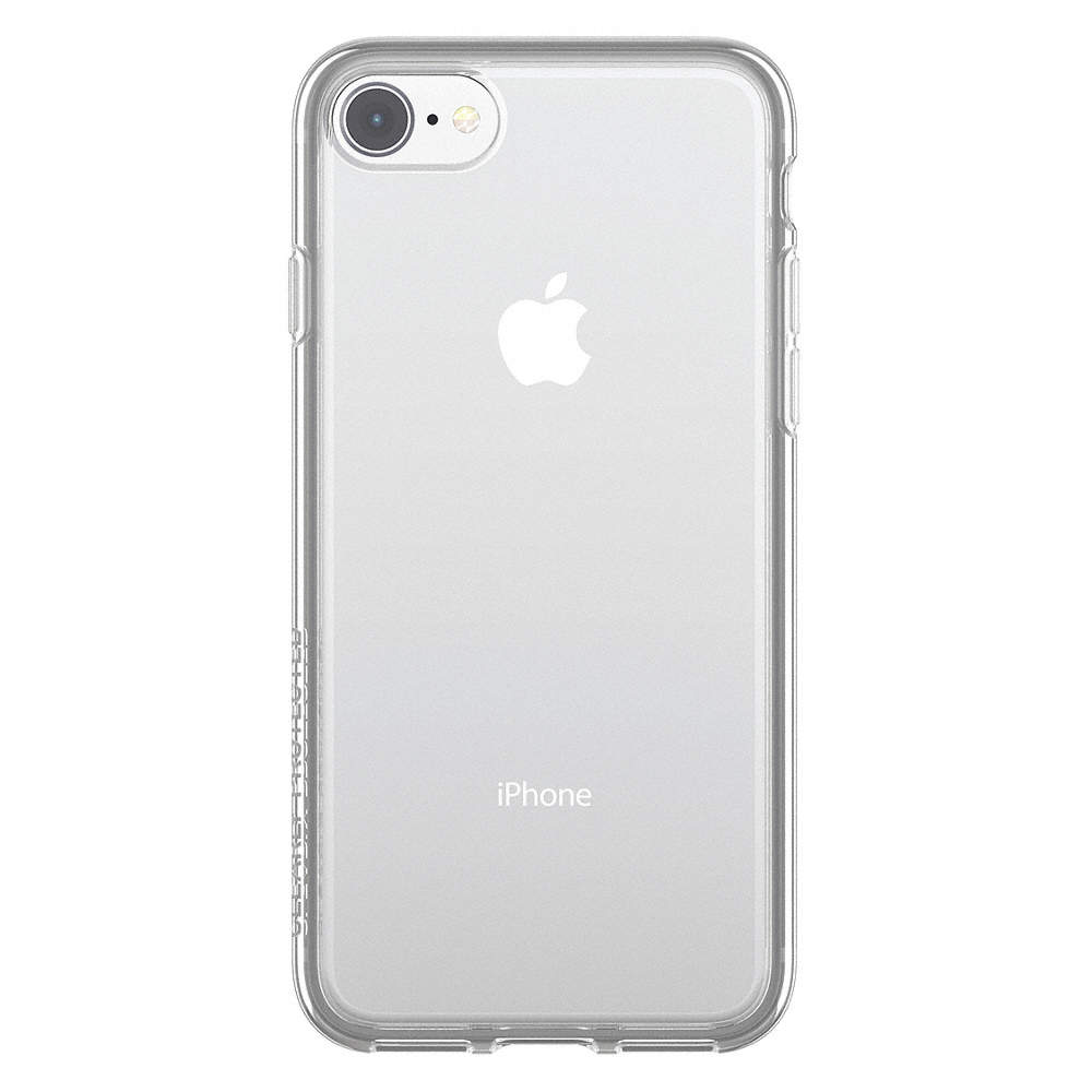 Cell Phone Case, Fits Brand Apple, Clear, Polycarbonate, Rubber