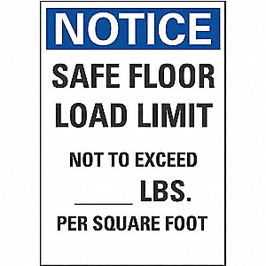 Load Limit Industrial Signs - Grainger Industrial Supply