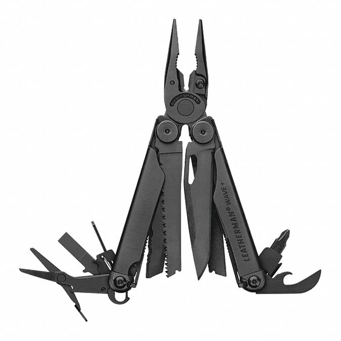 Multi-Tool Plier, Number of Tools: 18, Multi Tool Series: Wave Plus Black