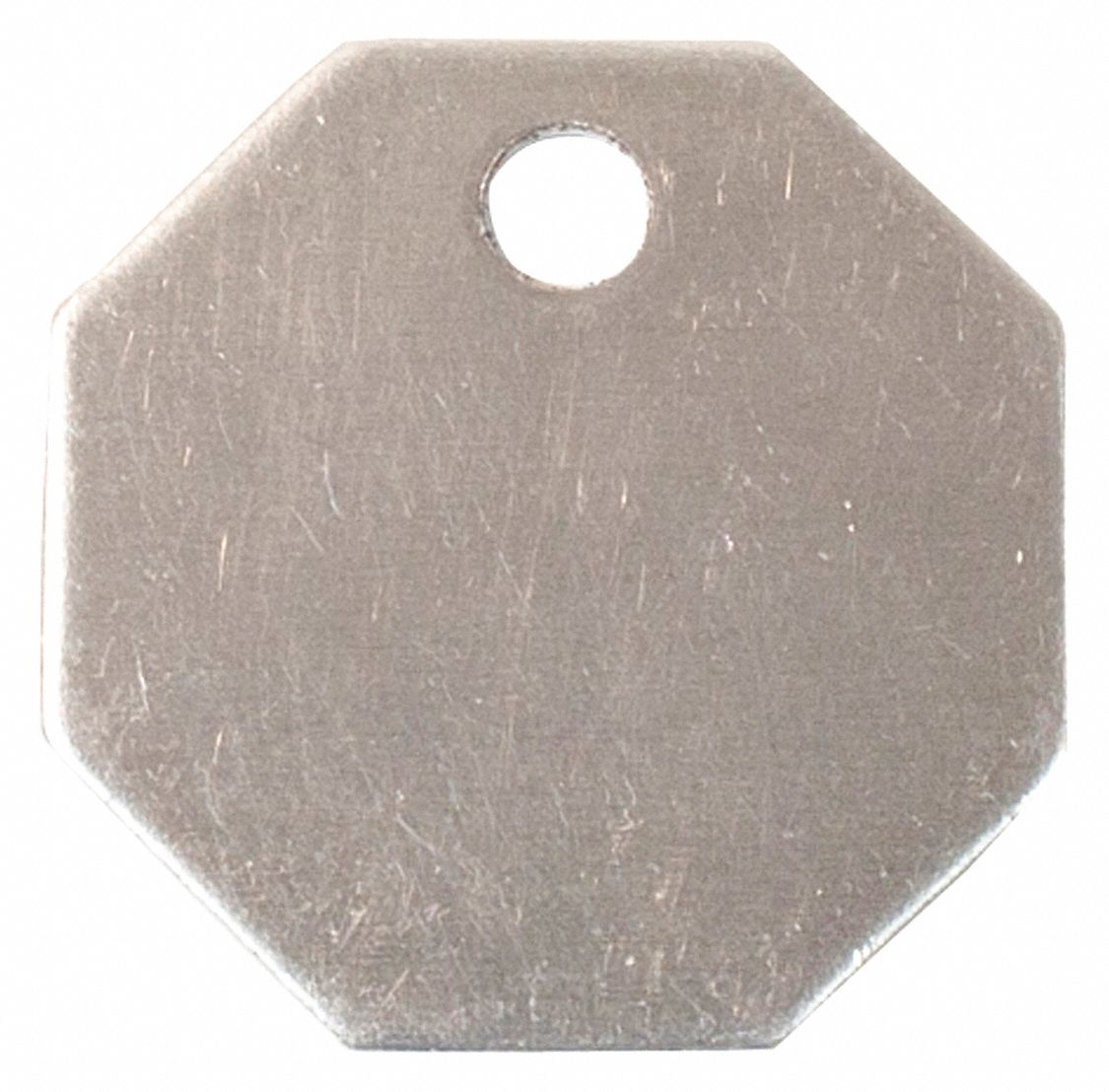 """100 Tags Blank Metal Tags Model 916A //1-1//4/"""" Square Aluminum"""