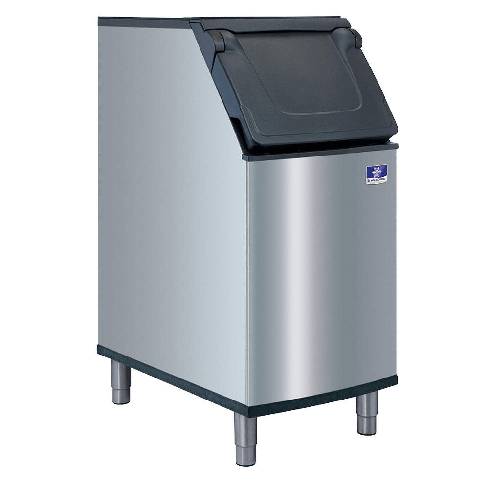 MANITOWOC Commercial Stationary Ice Storage Bin, 264 lb. Storage ...