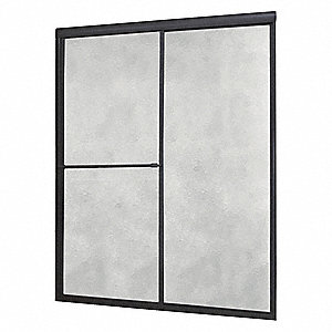 "48"" x 2-1/2"" x 70"" Framed Aluminum Shower Door"