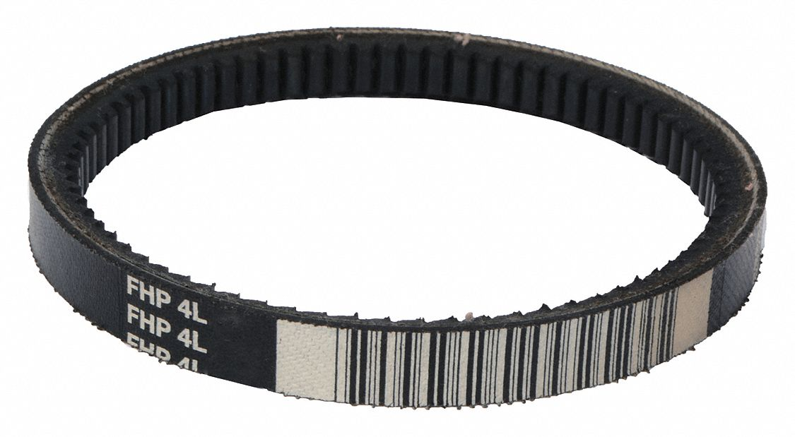 4L190 Cogged V-Belt, Outside Length 19 in