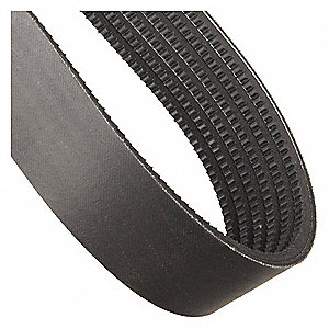 6/3VX475 Banded Cogged V-Belt, Outside Length 47-1/2""