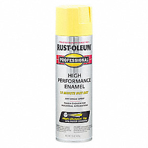 Professional Rust Preventative Spray Paint in Gloss Safety Yellow for Aluminum, Fiberglass, Metal, P