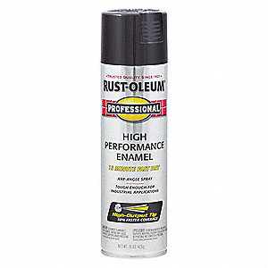 Professional Rust Preventative Spray Paint in Gloss Black for Aluminum, Fiberglass, Metal, Plastic,