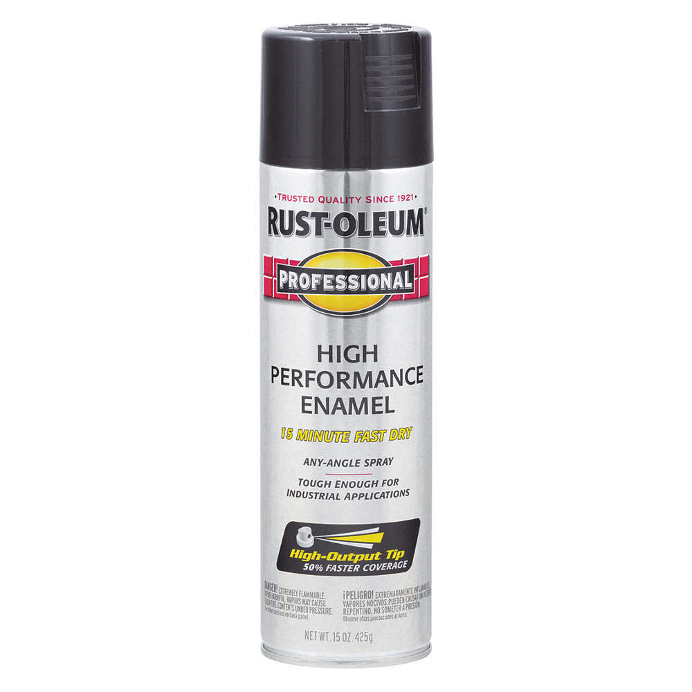 Professional Rust Preventative Spray Paint in Gloss Black for Aluminum,  Fiberglass, Metal, Plastic,