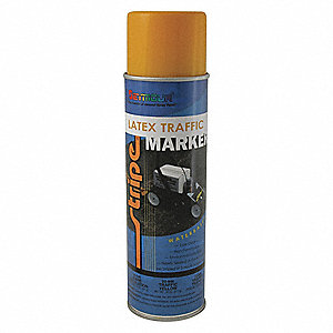 Water-Base Traffic Zone Marking Paint, Yellow, 18 oz.