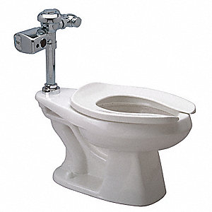 Zurn One One Piece Bedpan Flushometer Toilet, 1.28 Gallons per Flush, White