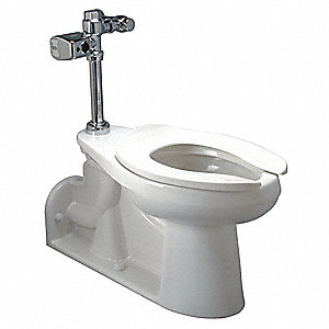 Zurn One One Piece Toilet Bowl, 1.1 Gallons per Flush, White
