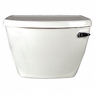 Glenwall  1.6 gpf Toilet Tank, Right Hand Trip Lever, White