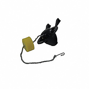 "Universal Flapper and Chain with Float, For Use With 2"" Flush Valves"