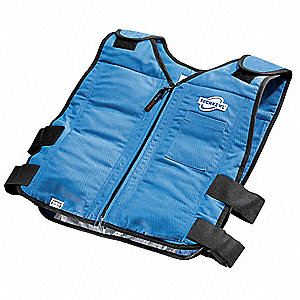 FR Cooling Vest,Navy Blue,4 to 8 hr.,2XL