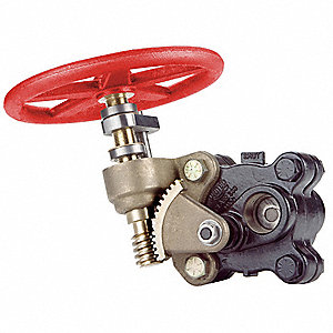 "FNPT Gate Valve, Inlet to Outlet Length: 9-13/64"", Pipe Size: 2"", Max. Fluid Temp.: 500°F"
