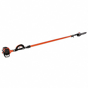 "Gas Powered Pole Saw, 28.1cc Engine Displacement, Recoil Starter Type, 12"" Bar Length"