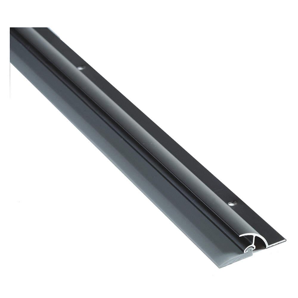 Drip Cap Door Sweep, Dark Bronze Aluminum, 3 ft  Length, 1-1/2