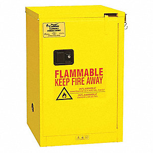 Flammable Liquid Safety Cabinet,23 3/8in