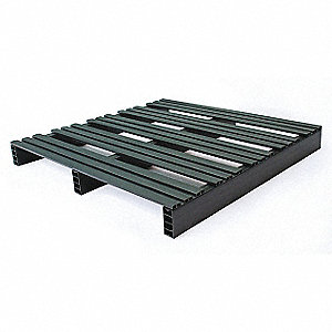 "2-Way Stackable Recycled PVC Pallet, 36""L x 36""W x 4""H"