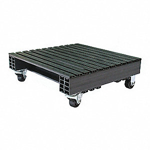 "2-Way Stackable Recycled PVC Pallet, 24""L x 24""W x 9""H"