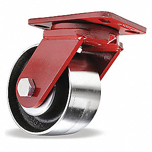 "6"" Heavy-Duty Kingpinless Swivel Plate Caster, 3200 lb. Load Rating"