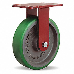 "8"" Medium-Duty Rigid Plate Caster, 1500 lb. Load Rating"