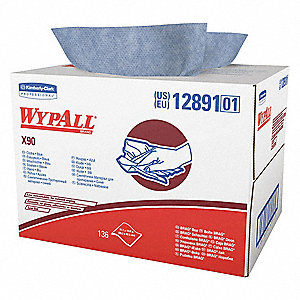 "Hydroknit(R) Disposable Wipes, 136 Ct. 11-1/10"" x 16-4/5"" Sheets, Blue"