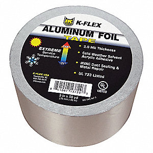 "150 ft. x 4"" Aluminum Pipe Insulation Tape, -31° to 248°F, Silver"