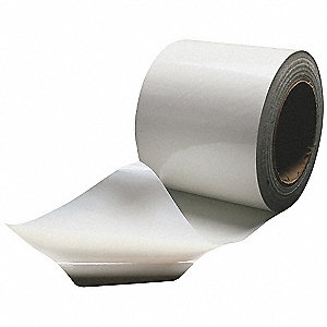 "45 ft. x 6"" Aluminum Pipe Insulation Tape, -20° to 150°F, White"