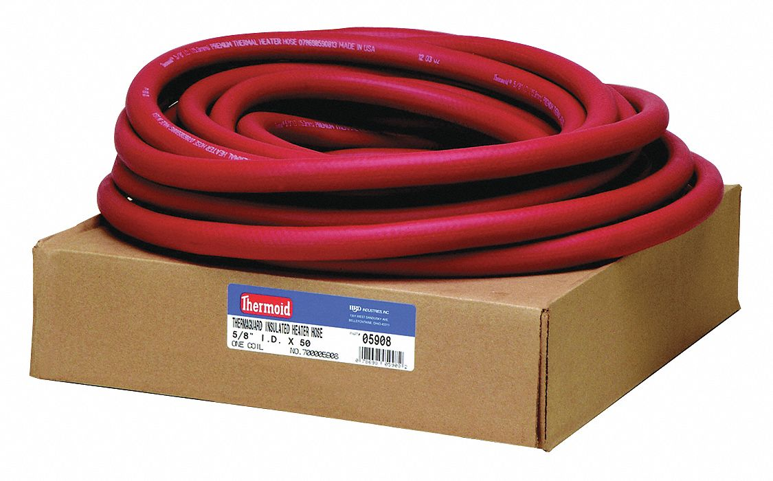 HBD Thermoid Premium Heater Hose 6 Feet Length x 3//4 Inch Inside Diameter and 4 Size 12 Breeze Clamps 5 Piece Bundle