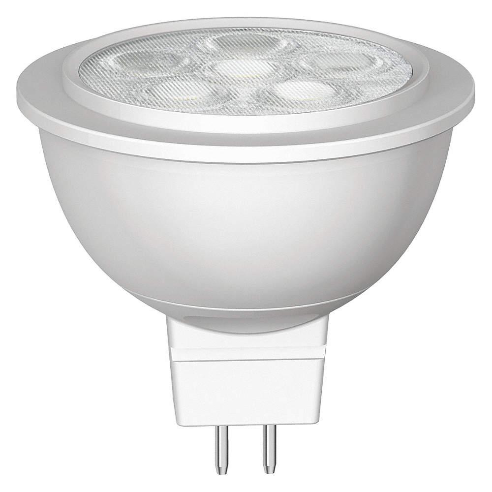 GE LIGHTING 5.5 Watts LED Lamp, MR16, 2-Pin (GU5.3), 430 Lumens ...