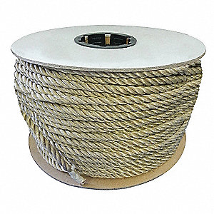 "2"" dia. Polypropylene All Purpose General Utility Rope, White, 300 ft."