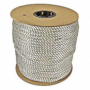 "1/2"" dia. Nylon All Purpose General Utility Rope, White, 300 ft."