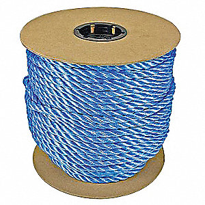 Rope,600ft,Bl,215lb.,Polyprpylne