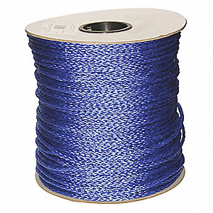 "1/4"" dia. Polypropylene All Purpose General Utility Rope, Blue, 1000 ft."