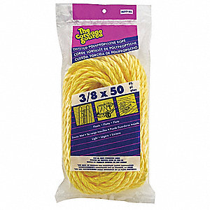 "3/8"" dia. Polypropylene All Purpose General Utility Rope, Yellow, 50 ft."