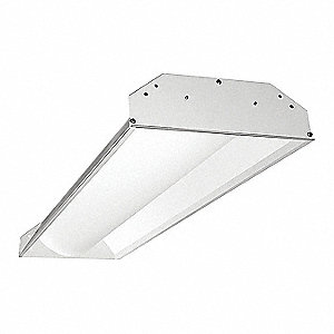 LED Troffer 1x4ft, 3900lm, 4100K, Emerg.